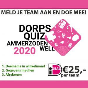 Aanmelding Dorpsquiz Ammerzoden-Well 2020
